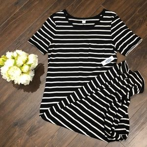 NWT!! Old Navy Black & White Striped Dress- Small